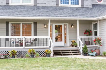 Screen Away Door on Grey House
